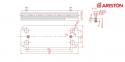 Теплообменник ГВC вторичный 14 пластин Chaffoteaux Pigma, Pigma Evo, Pigma Green Evo, Alixia, Niagara, Talia, Talia Green  (аналог Zilmet 17B1901444) 0