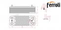 Теплообменник ГВС вторичный 12 пластин Ferroli Divatech F24B, Fertech F24B (аналог 902610480) 0
