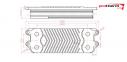 Теплообменник ГВС 12 пластин Protherm Пантера, Гепард (аналог 0020059452) 0