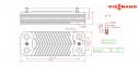 Теплообменник ГВС вторичный 20 пластин Viessmann Vitodens 100-W WB1B, WB1C (аналог 7828746) 1