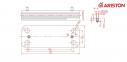 Теплообменник ГВC вторичный 16 пластин Ariston BS, Matis, Genus, Genus Evo, Clas, Clas Evo,  (аналог Zilmet 17B1901644) 0
