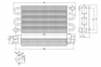 Теплообменник монотермический Ariston Microgenus 23 MI, 23-27 MFFI, Microsystem 21-28RFFI (аналог 998620, 998893) 0