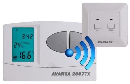 Терморегулятор программируемый Avansa 2007 TX (беспроводной)