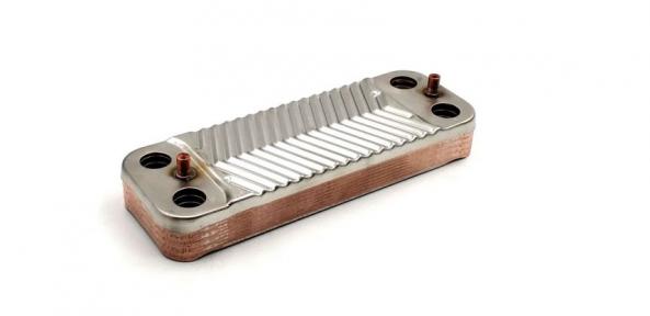 Теплообменник ГВС (10 пластин) Saunier Duval Themaclassic, Combitec, Semia (аналог S1005800)