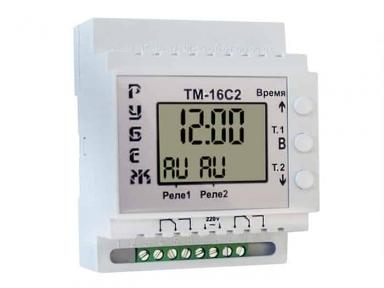 Таймер РУБЕЖ ТМ-16С2 суточный двухканальный