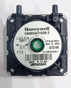 Прессостат (реле давления воздуха) Honeywell 0,81 mbar Hermann Micra, Eura (49001529)