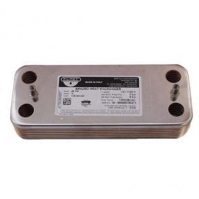 Теплообменник ГВC (вторичный) 12 пластин Zilmet 17B1901200 Ariston UNO MFFI/MI ( аналог 995945, R8036)