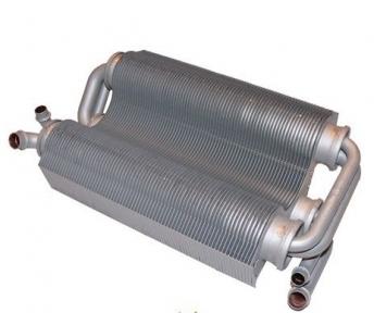 Теплообменник битермический (короткие трубы) Ferroli Domicompact C24, F24, C24D, F24D, FerellaZip C24, F24 37403910 (39817500) с 01.07.2005 года