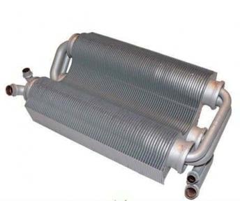 Теплообменник битермический (короткие трубы) Ferroli Domicompact C24, F24, C24D, F24D, FerellaZip C24, F24 39817500 (37403910) с 01.07.2005 года