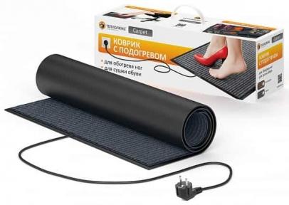 Коврик нагревательный Теплолюкс-Carpet 90 х 60 см серый