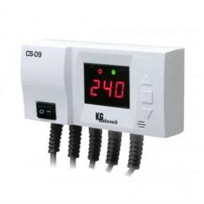 Терморегулятор KG Elektronik CS-09 (для солнечного коллектора и ЦО)