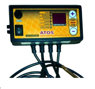 Регулятор температуры KOM-STER ATOS max (для ЦО, вентилятора, с возможностью подключения комнатного термостата)